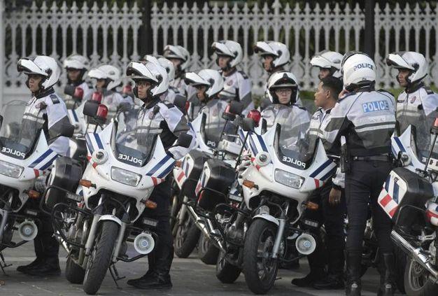 Polizia Singapore scorta Kim Jong Un (Ansa Ap)