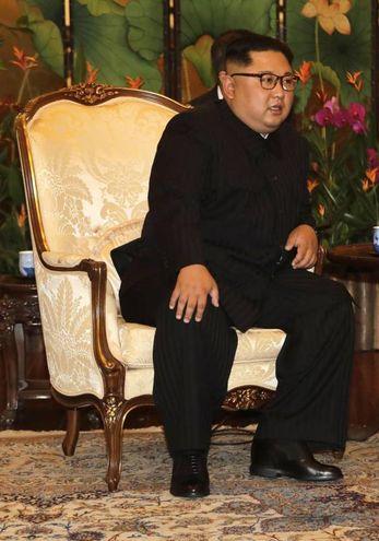 Kim Jong Un a Singapore (Ansa Ap)
