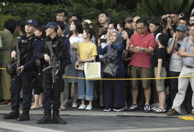 Misure di sicurezza a Singapore (Ansa Ap)