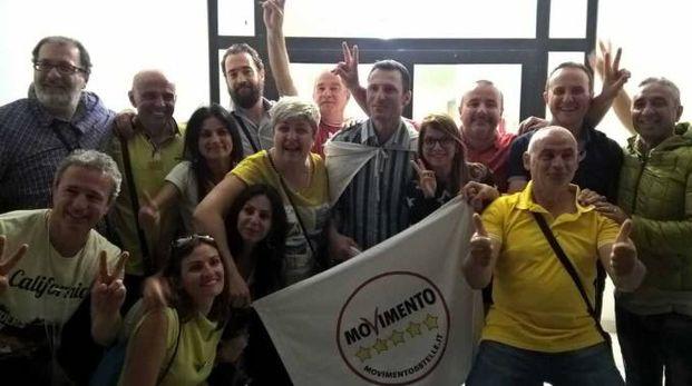 La festa dei Cinque Stelle con il nuovo sindaco Mauro Bochicchio
