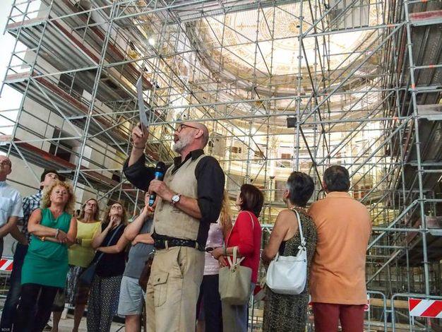I lavori di restauro del teatro Galli (foto Bove)