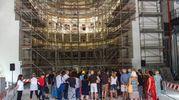 La visita guidata al teatro Galli (foto Bove)