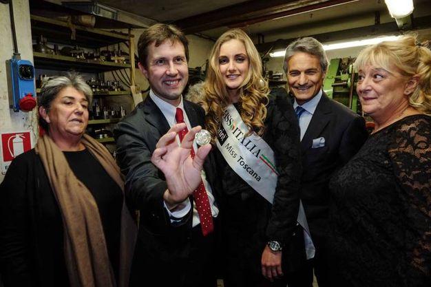 Cerimonia di inizio coniazione nell'antica officina monetaria Picchiani & Barlacchi (Giuseppe Cabras/ New Press Photo)