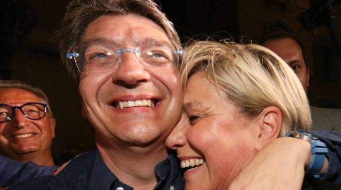 Emilio Del Bono con la vicesindaco Laura Castelletti