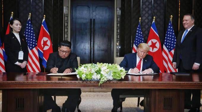 Kim Jong-un Donald Trump (Ansa)