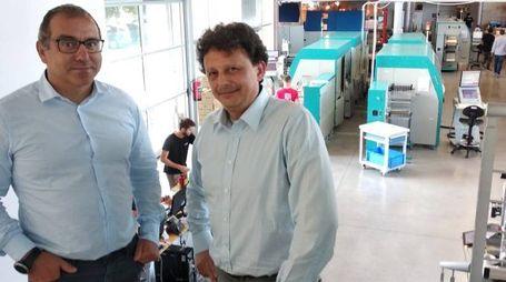 L'amministratore delegato  di Lab Id, Francesco Pirola,  e il direttore commerciale Giovanni Codegoni
