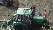 Il trattore (foto Corelli)