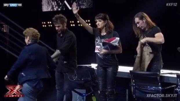 Un frame del video di ringraziamento pubblicato nella pagina di X Factor Italia