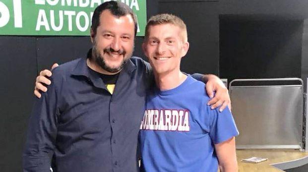 Flavio Nogara con Matteo Salvini