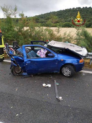 L'incidente nella zona di Grosseto Nord