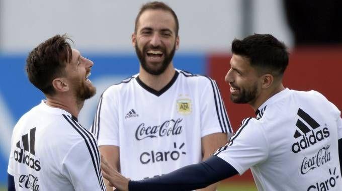 Mondiali 2018, la Nazionale argentina in allenamento (LaPresse)