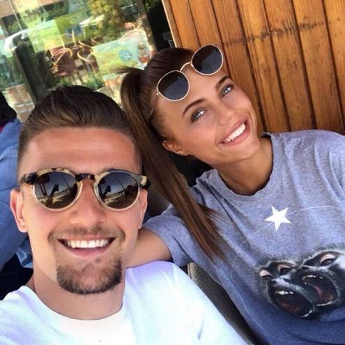 Natalija Ilic col fidanzato, il centrocampista della Lazio, Milinkovic-Savic (Instagram)