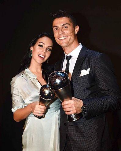 Georgina Rodriguez, modella, e il fidanzato Cristiano Ronaldo (Instagram)