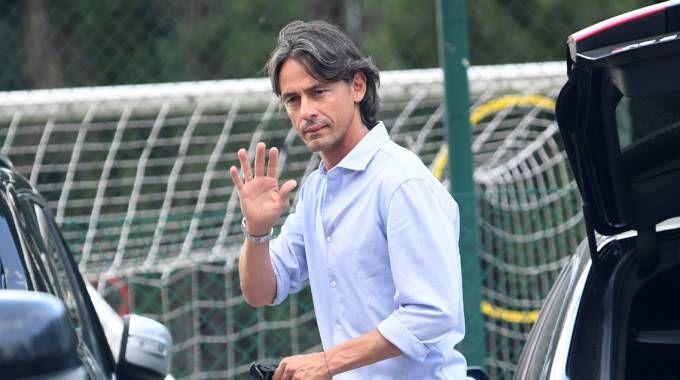 Filippo Inzaghi a Casteldebole (FotoSchicchi)