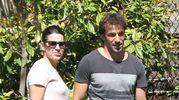 Alessandro Del Piero con la moglie Sonia Amoruso e il figlio nel 2012 (Lapresse)