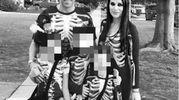 Alessandro Del Piero con moglie e figli ad Halloween 2016 (Instagram)
