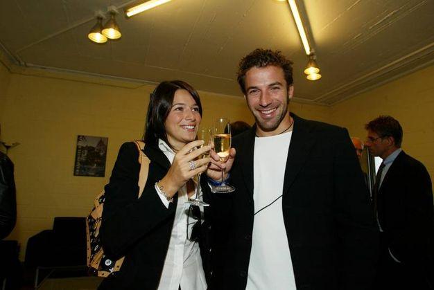Alessandro Del Piero e Sonia Amoruso nel 2003 (Lapresse)