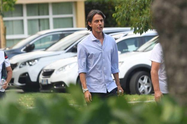 Filippo Inzaghi, per tutti 'Pippo', nel parcheggio di Casteldebole (FotoSchicchi)
