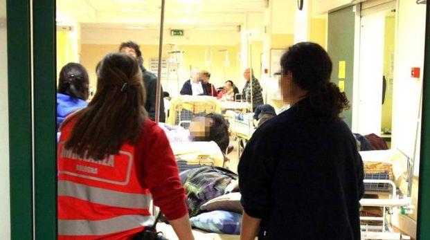 Il pronto soccorso del Maggiore (Foto Ansa)