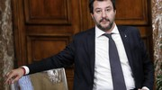 Giuseppe Conte e Matteo Salvini: cravatte gemelle (Ansa)