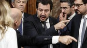 Salvini dirige i lavori per il giuramento (Ansa)