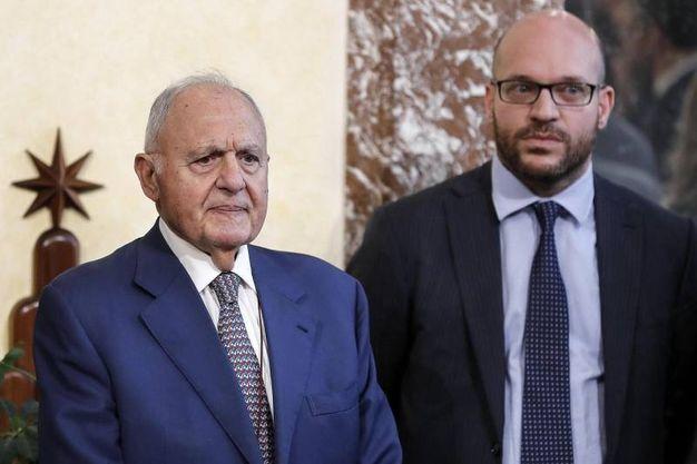 Paolo Savona e Lorenzo Fontana (Ansa)