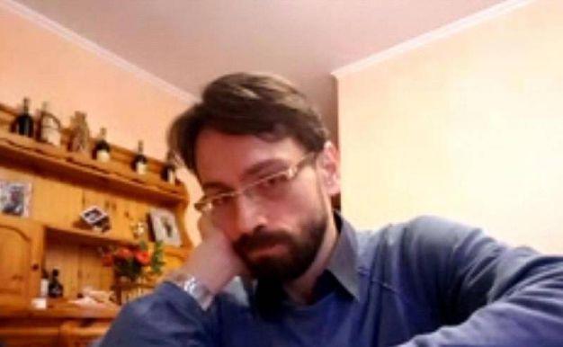 Claudio Pinti nella foto diffusa dalla polizia