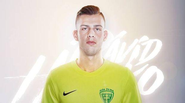 David Hancko con la maglia dello Žilina  (foto dal sito del club)