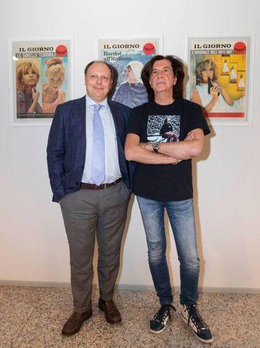 Maurizio Solieri con il direttore Sandro Neri (Newpress)