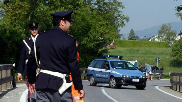 Foto di repertorio della polizia sul luogo di un incidente (Foto Cardini)