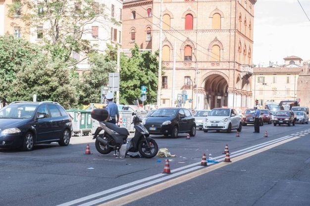 L'area del sinistro, con la moto sul cavalletto (FotoSchicchi)