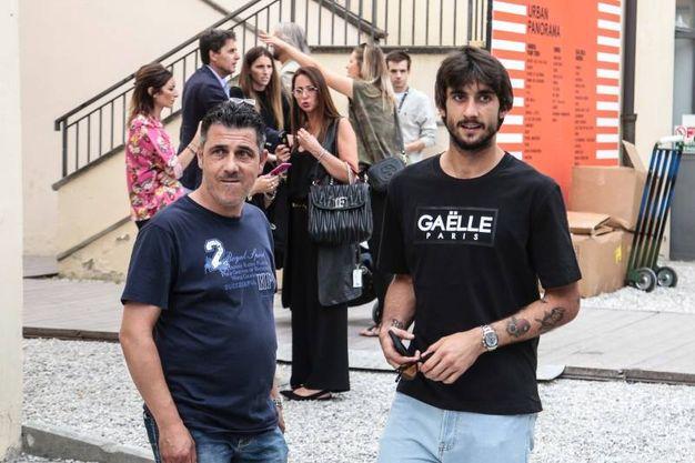 Mattia Perin, neoportiere della Juventus, a Pitti Uomo allo stand dei francesi di Gaëlle (foto Giuseppe Cabras/New Pressphoto)
