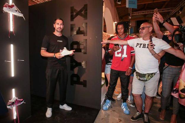 Pitti, Marco Borriello per Pyrex (foto Giuseppe Cabras/New Pressphoto)