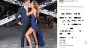 Jenson Button e Brittny Ward nell'annuncio delle nozze (Instagram)