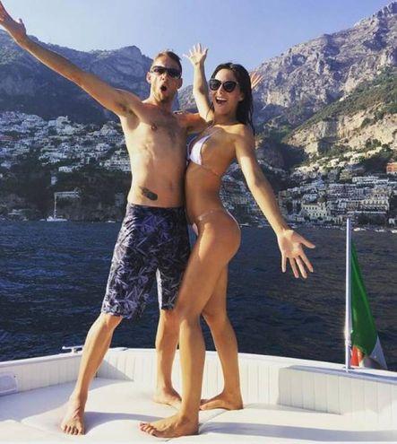 Jenson Button e Brittny Ward (Instagram)