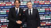 Filippo Inzaghi e l'amministratore delegato del Bfc, Claudio Fenucci (FotoSchicchi)
