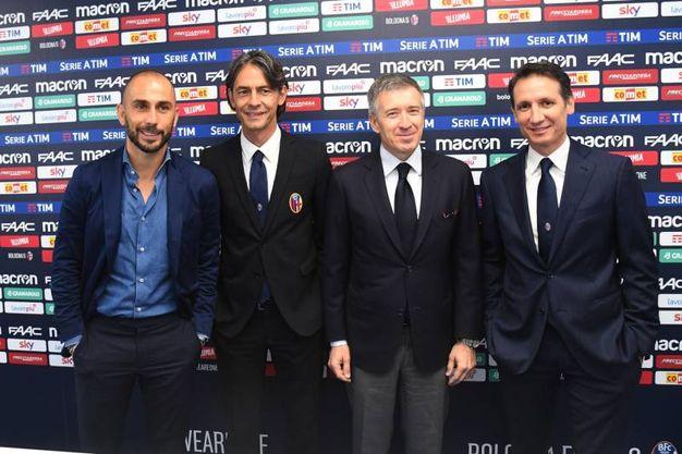 Da sinistra: Marco Di Vaio, 'Pippo' Inzaghi, Claudio Fenucci e Riccardo Bigon