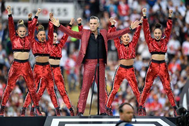 Robbie Williams apre i Mondiali di Russia (Lapresse)