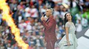 Robbie Williams e Aida Garifullina (Ansa)