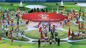 Un momento della cerimonia d'apertura (Ansa)