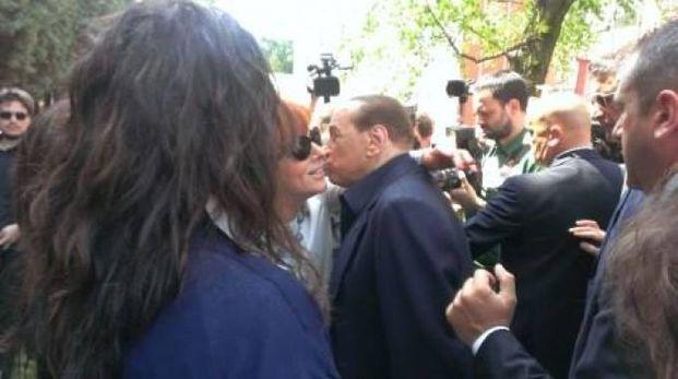 Mariella Meucci a un incontro con Berlusconi