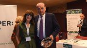 Barbara Manicardi, capo della redazione modenese del Resto del Carlino e Fabrizio Togni di Bper (foto Fiocchi)