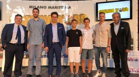 La premiazione dei vincitori assoluti del Carlino d'Oro 2018 (foto Corelli)
