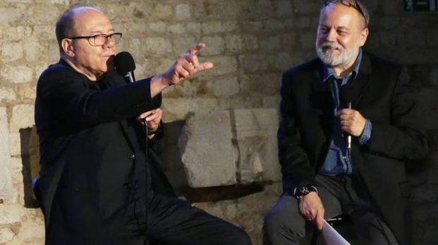 Carlo Verdone intervistato da Federico Berti al Castello dell'Imperatore (foto Attalmi)