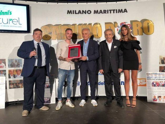 Carlino d'Oro 2018, premiato da Colomba il giocatore della Spal Manuel Lazzari (foto Corelli)