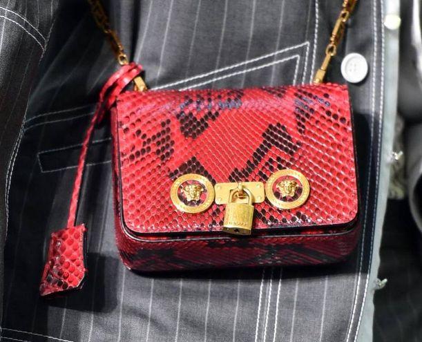 Il particolare di una mini-borsa (Ansa)