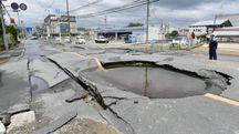 Terremoto a Osaka (Ansa)
