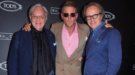 Diego e Andrea Della Valle con Lapo Elkann (al centro)