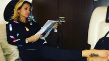 Sonia Bruganelli in una foto su Instagram del 2016