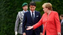 Angela Merkel e Giuseppe Conte (Ansa)